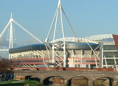 Das Millennium Stadium in Cardiff
